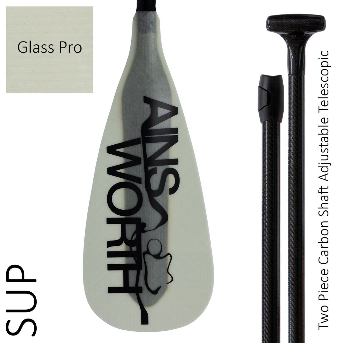SUP (Glass Pro) Two Piece Carbon Shaft Adjustable Telescopic